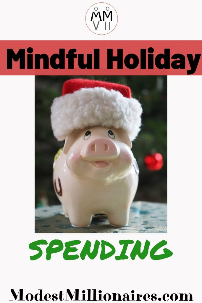 Piggy Bank with Santa Hat - Mindful Holiday Spending