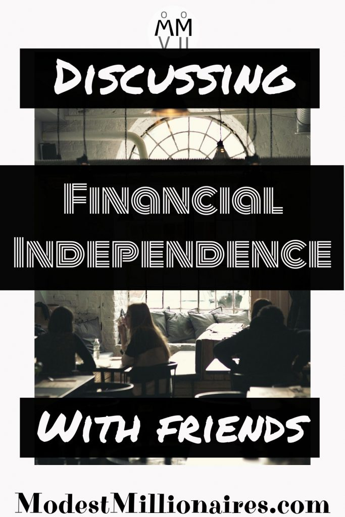 Coffee shop scene where friends are discussing financial independence