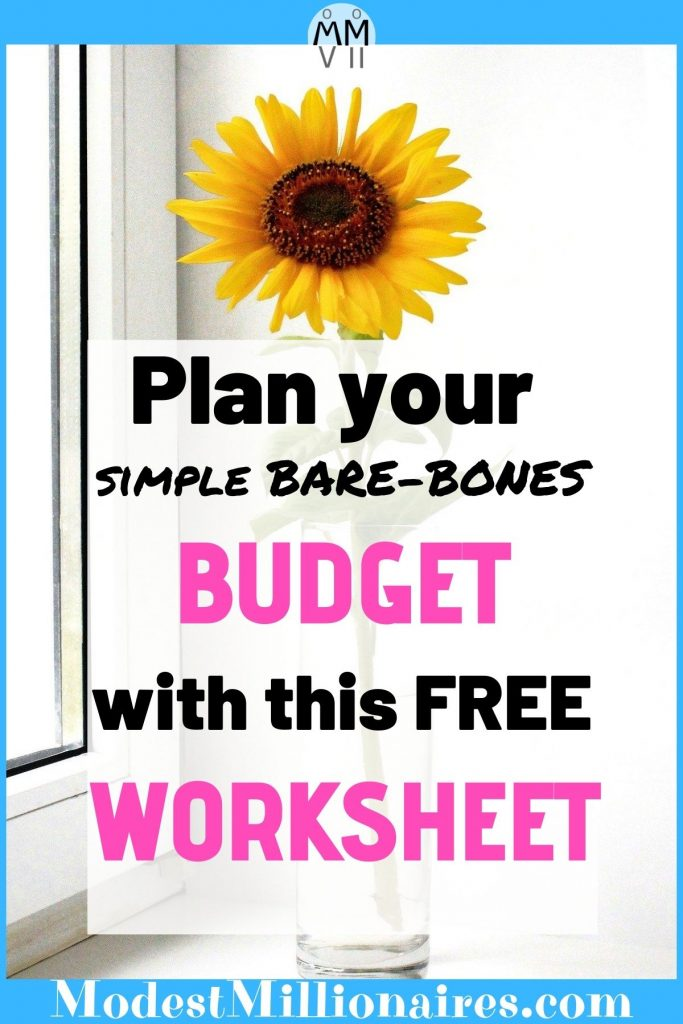 Free Simple Bare-Bones Budget Template