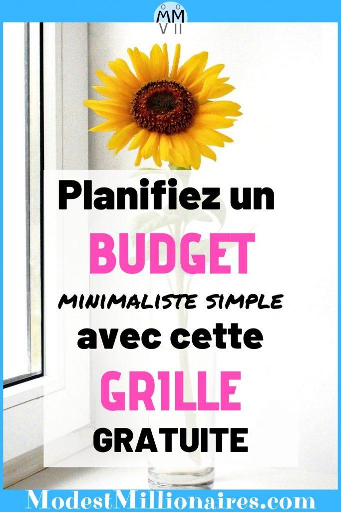 Gabarit Budget Minimaliste Simple Modèle